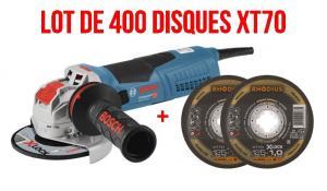 Lot de 400 disques XT 70 XLOCK + meuleuse BOSCH GWS17-125 S OFFERTE