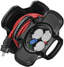 Enrouleur COMPACT X-GUM - 3 prises à clapets + 2 prises-chargeur USB